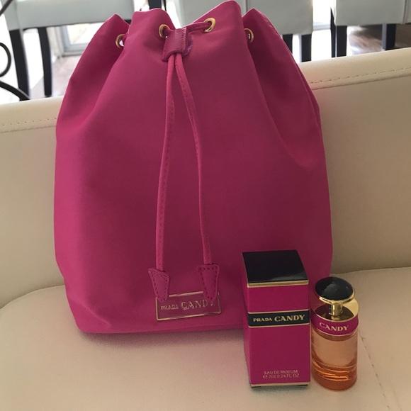 6391fd30a5c5e3 Prada Bags | Drawstring Bag Candy Fragrance | Poshmark
