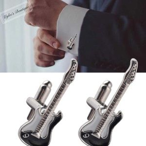 Other - Electric Guitar Shaped Cufflinks