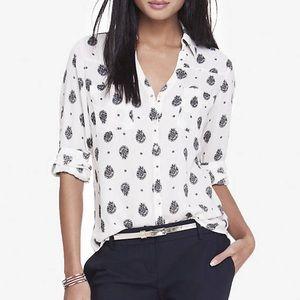 EXPRESS Paisley print dress shirt