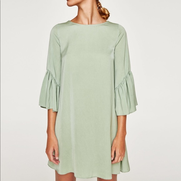 062a90be Mint Green Ruffle Sleeve Dress. M_59d29e59522b4552a5008501