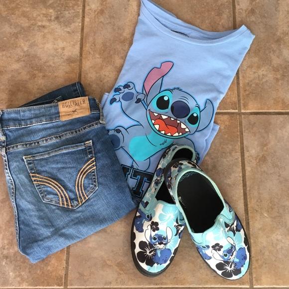 e9a4c5dff79 Disney Shoes - Disney Lilo   Stitch slip on tennis shoes 6 Cute!