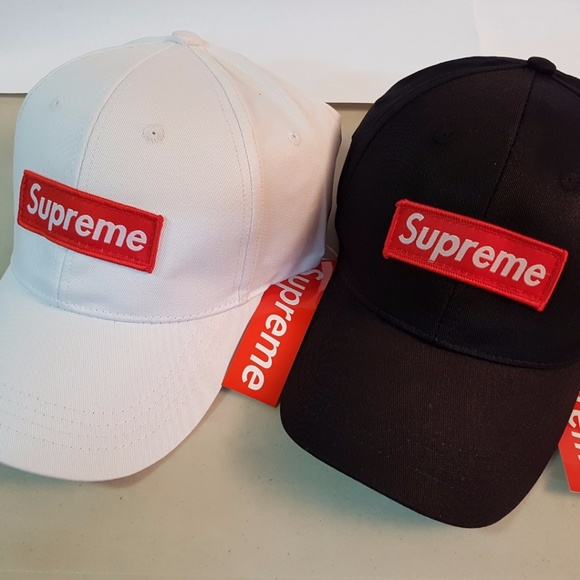 Supreme Adjustable Cap Box Logo Black White 36860b6066b