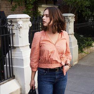 78ff5084a456a Madewell Tops - Madewell wrap top in star scatter