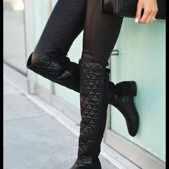 1534e62c55d Stuart Weitzman Quilted 50 50 leather boots. M 59d2a267f09282c6900098ec