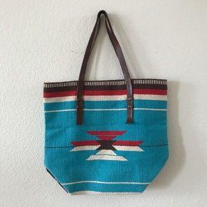 New forever 21 woven BoHo tribal purse tote bag