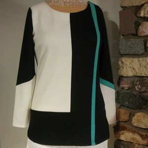 Color block tunic - long sleeve.