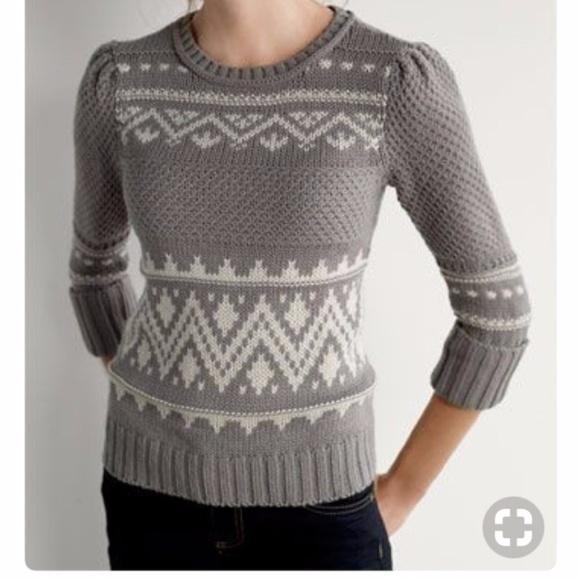 84% off Caslon Sweaters - Caslon (Nordstrom) fair isle sweater ...