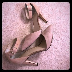 Nordstrom buff/ beige ankle heals