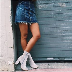 LF carmar dark wash denim mini skirt box5