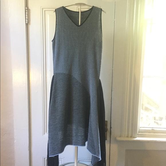 Stella McCartney Dresses - Stella McCartney blue black fringed knit dress S