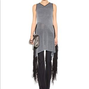 Stella McCartney Dresses - Stella McCartney blue black fringed knit dress S