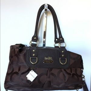 ... Brown HPC signature rolling Duffle ... NWT AUTHENTIC Coach Purse  ⭐️SALE⭐️Vera . 484db8a8e1876
