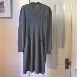 St. John Dresses - St. John gray knit long sleeve dress