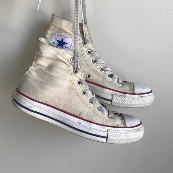 c1ae5957b01a Converse Shoes - Converse Cream High Tops