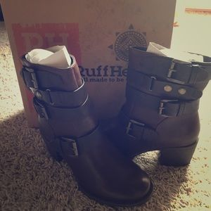 NWB Ruff Hewn Brown Heel Buckle Boot 7-8 Available