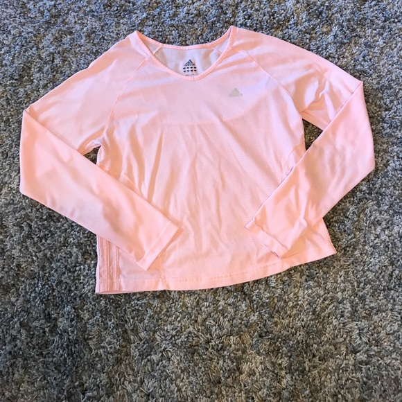 4ade296f4c0 adidas Tops | Womens Long Sleeve Baby Pink Workout Top | Poshmark