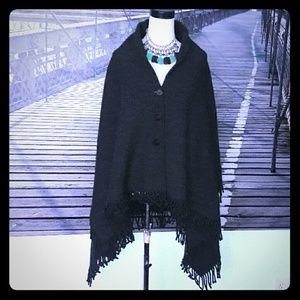 Vintage DOLCE & GABBANA wool cape cloak poncho