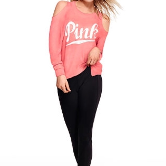 1272be46dab153 🆕Just Added Pink VS Cold Shoulder Top