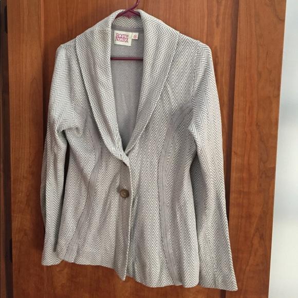 8e2821990c0cf4 Anthropologie Jackets & Coats | Rosie Neira Chevron Sweater Blazer ...