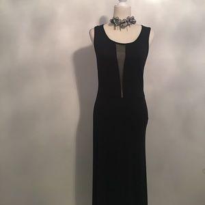 NWOT Monteau Black Maxi Dress