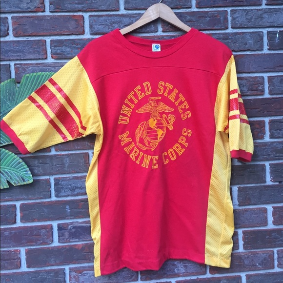 5b3c70a5 Vintage Shirts | Rare Us Marine Corps Shirt Jersey | Poshmark
