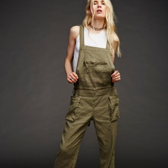 3f9604e4658b Free People Pants - Free People Lost Boys One Piece Linen Overalls. S