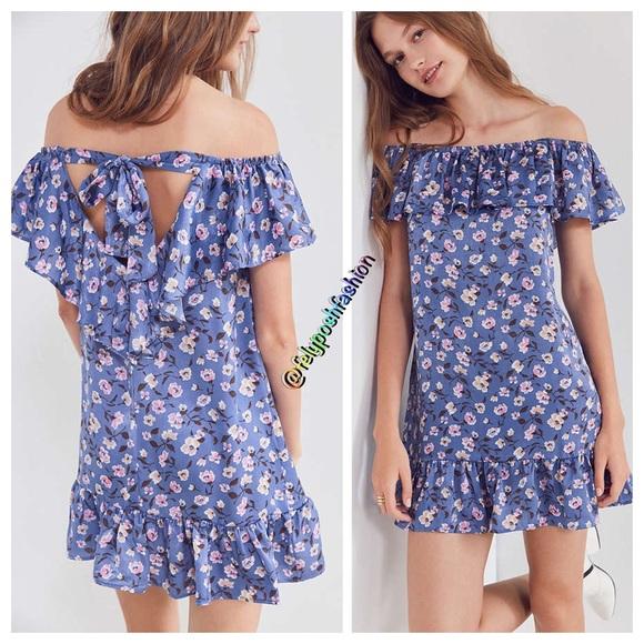 e96735f625c3 Kimchi Blue Floral Ruffle Off-The-Shoulder Dress