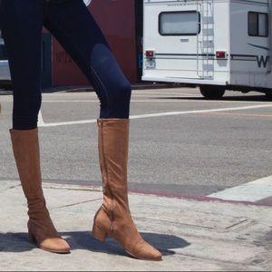 Suedette Block Heel Boots