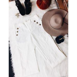 💫Anthropologie Elevenses WideLeg Linen Trousers 4