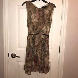 Miss sixty reptile print dress