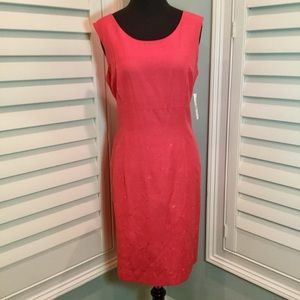 NWT, Coral Shift Dress, Size 10