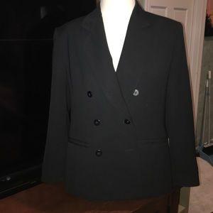 Double breasted Jones New York black blazer EUC
