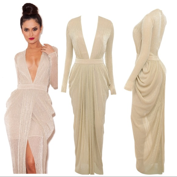 730b05dc0f7d House of CB Dresses & Skirts - House of CB Blanca Nude Shimmer Sheer Maxi  Dress