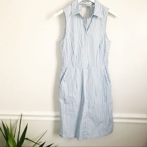 H&M Open Back Striped Dress
