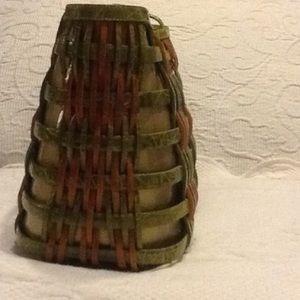 Nancy Gonzalez Bags - Nancy Gonzalez Rare Basket Weave Crocodile Bag