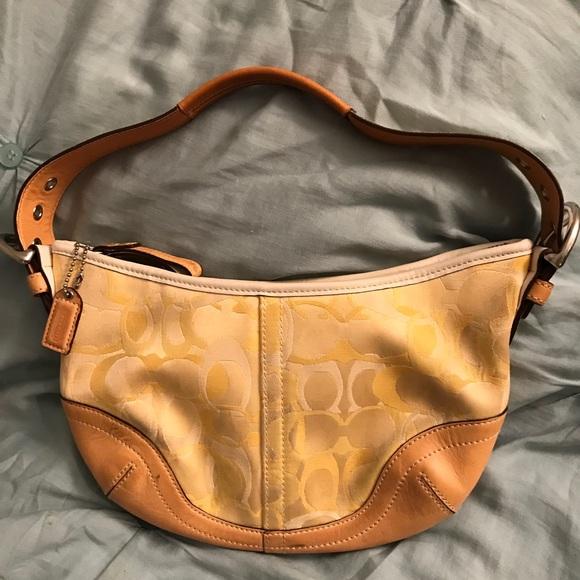 Coach Bags   Yellow Optic Print Soho Handbag   Poshmark 6e28af6a71