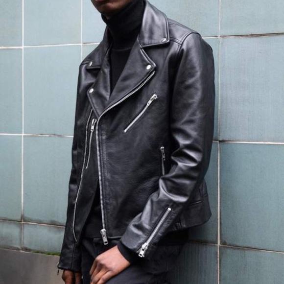 9ae3970f4 Topman Leather Biker Jacket