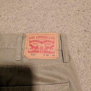 Levi's Jeans - Levi'a 511 Tan Jeans 38x30