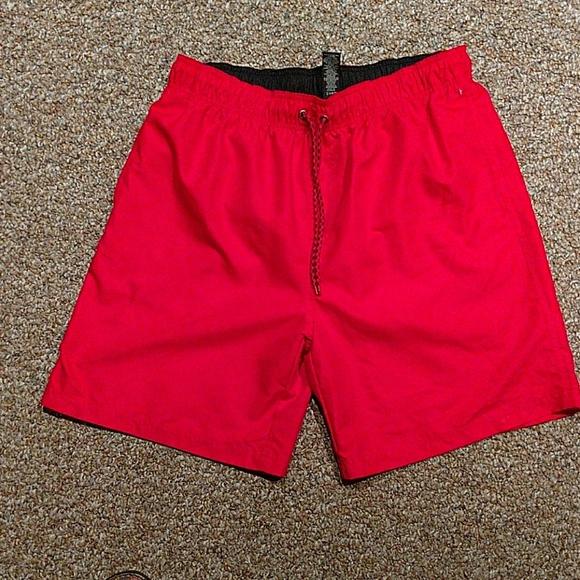 0d5900740f Red OP Mens Swim Trunks With Mesh Lining. M_59d2d552f092824bb30170d1