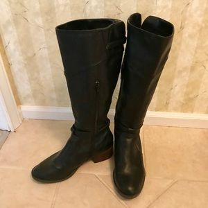 Like-New Black Riding Boots