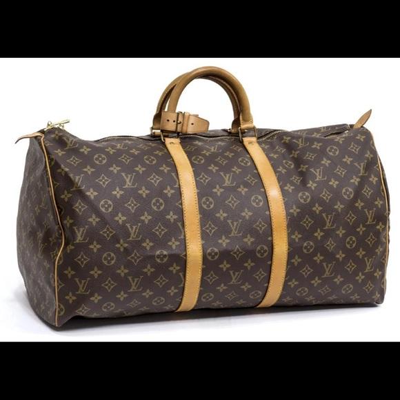 ad2411523392 Louis Vuitton Handbags - LOUIS VUITTON  KEEPALL 55  MONOGRAM CANVAS DUFFLE