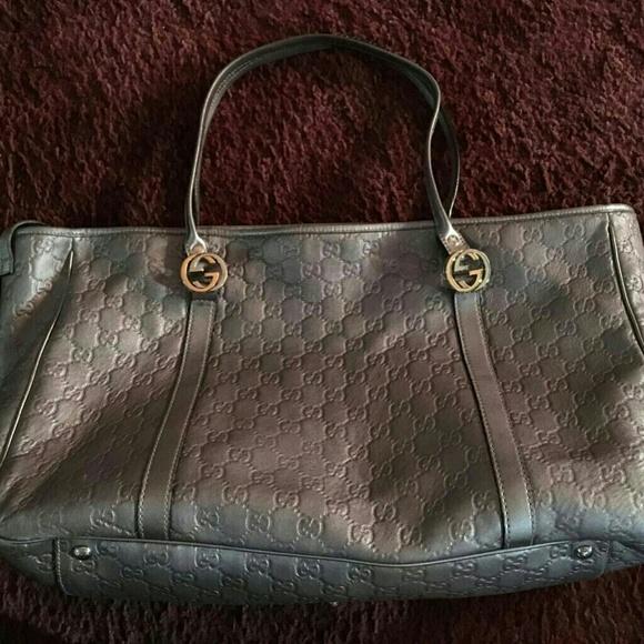 05b4c4be44626 Gucci Handbags - Gucci GRAY Guccissima Leather GG Tote~ send offers