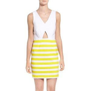 <Amour Vert> Amber Stripe Cutout Body-Con Dress
