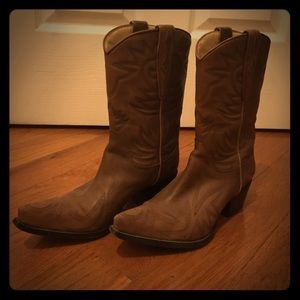 Guess by Marciano Leather Cowboy Boots