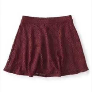 Dresses & Skirts - Red wine lace trim skirts