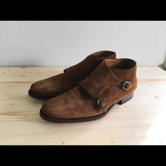 3a2b2f21 Zara Man Double Monk Suede Shoe sz EU 43. M_59d2db363c6f9f21e5019128