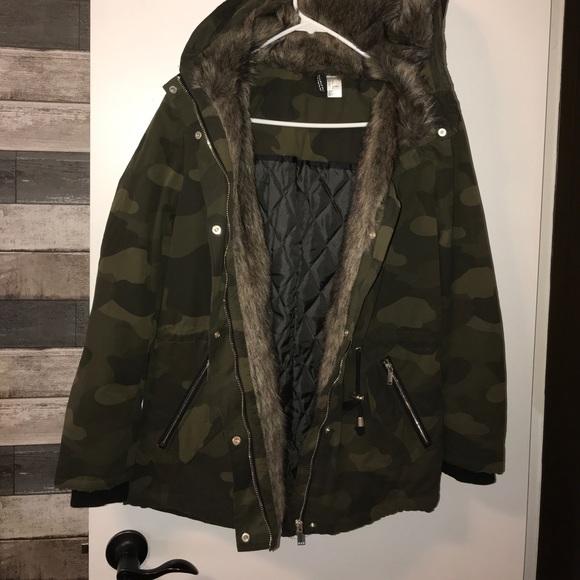 c5c8529c7642e H&M Jackets & Coats   Camo Puffer Jacket   Poshmark