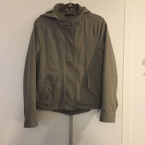 Theory Army Green Cargo Jacket w/ removable lining