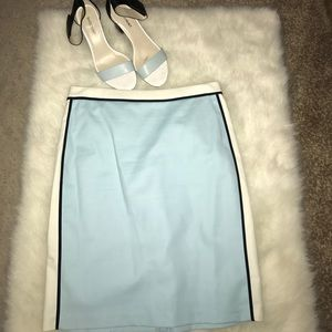 Colorblock Blue, Black, and White Skirt