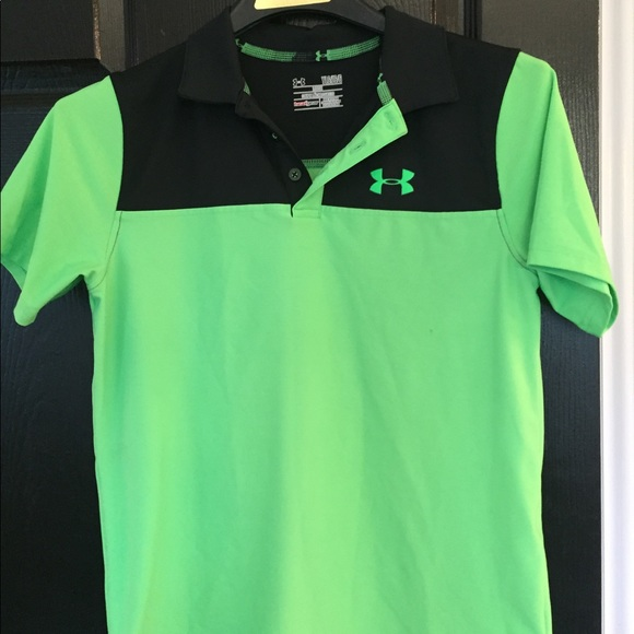 559d2679 Under Armour Shirts & Tops | Boys Under Armor Black And Green Golf ...